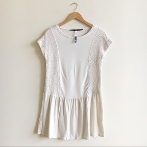 Kensie Ivory Corchet Mini Dress
